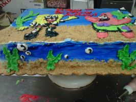 spongebob cake 2 by toastles