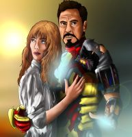 Tony And Pepper by MegBeth