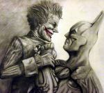 Batman and Joker: Arkham City by diabeticartist