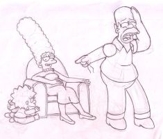 Homer's anguish, again. by simpspin