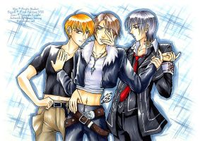 Kyo, Squall and Zero? XD by sonialeong