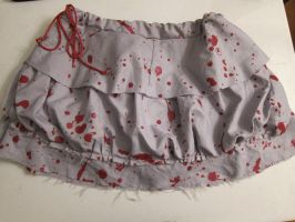 Blood Spattered Skirt by italktotherain