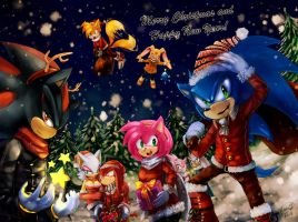 [MERRY CHRISTMAS] Sonic by LeonS-7