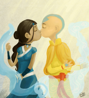 Avatar: Kiss by schellibie