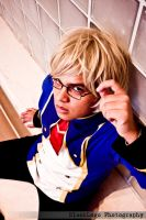 Blazblue cosplay : Academy Jin by startoonhero