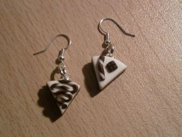 Earring with slice of cake fimo by bimbalove81