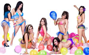 Balloons n Girls by dash825