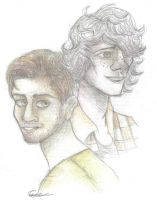 Matthew and Andrew by SammyTheDoodler