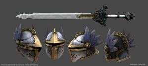 Final Guard Sword Helmet Progress by 9thKnight