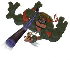 Ninja Pizza color by theFranchize
