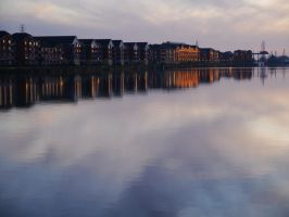 Docklands Twilight by Softspoken-One