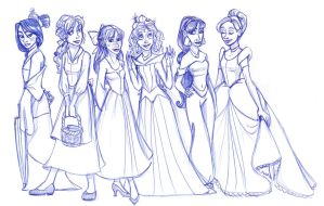 The Hogwarts Girls Go Disney by kuabci