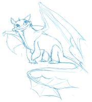 Toothless Cutie - Sketch by GlamourKat