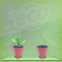 ECO trash icon by D1m22