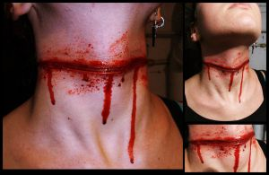 Sliced Throat Wound by FatherOfMonstersFX
