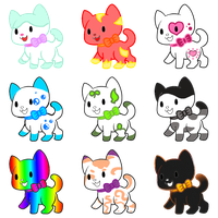 [6 left!]Adoptable Cute cats #1 by YleniaAdoptable