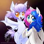 Booberry and Ghostly (commission) by StarshineBeast