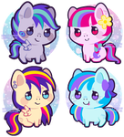 mini pony adopts [open!] by Miss-Glitter