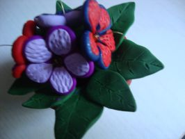 Colorful clay flowers by Verymary1