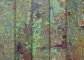 Rusted Green Cracked Paint Textures by sdwhaven