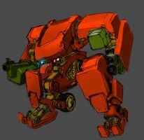Small Mech Colour Experiment by SpadeOfAce