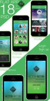Flat app Full UI free PSD Download by kadayoub