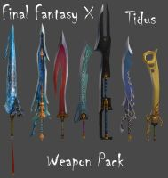 FFX Tidus Weapon Pack by Frozen-Knight