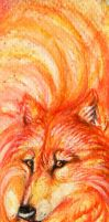 Flame Wolf bookmark by wolf-minori