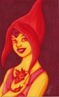 Flame Princess Marker Practice by kataiya