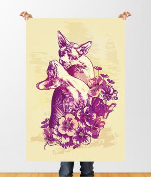 Poster Cats Love by BeautyMind