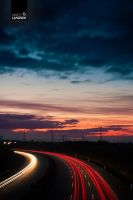 highway in sundown by lamarc