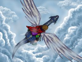 Dragon Flight- March 31 2004 by thewavertree