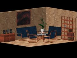living room by dracontologe