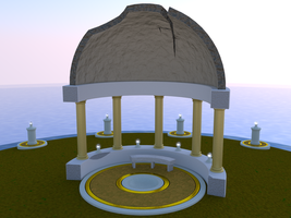 Desolate Gazebo - Daytime - wip1 by carlfoxmarten