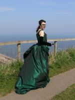 GREEN MADELINE GOWN SIDE by Abigial709b