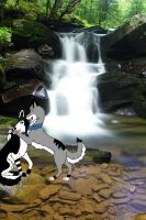 Playing By The Waterfall by JohnnyDeppsGirl4life