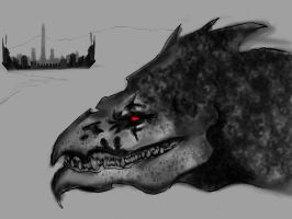 Dragon Concept WIP 2 by Lonewolf898