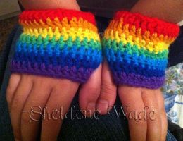 Rainbow mitts by Sheeeva