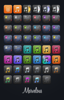 Marvelous iPod Player icons by JackieTran