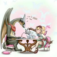 Teatime with Agitha by Dralsk