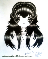 Hair Study from the Imagination (2) Front View by anime-master-96