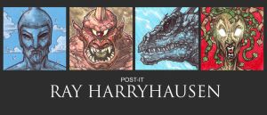POST IT RAY HARRYHAUSEN by QuinteroART