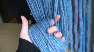 Cosmic Ocean-Berry Handspun by White-Rose-Tree
