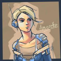 Amerette - Experimenting with paint tool SAI by kaj18