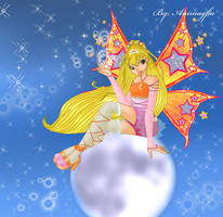 Stella on the moon by Animagfia