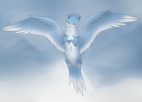 Snow griffin by starclanwarrior0909