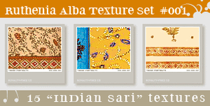 Texture Set 01: Indian Sari by Ruthenia-Alba