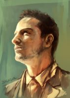Andrew Scott speedpaint by inklou