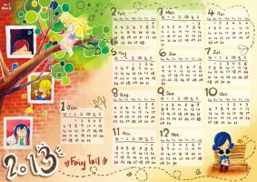 2013 Fairy Tail Calendar ( Hand-painted ) by icecream80810