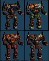 Comparing Apples 2 Battlemechs by monkeyrum